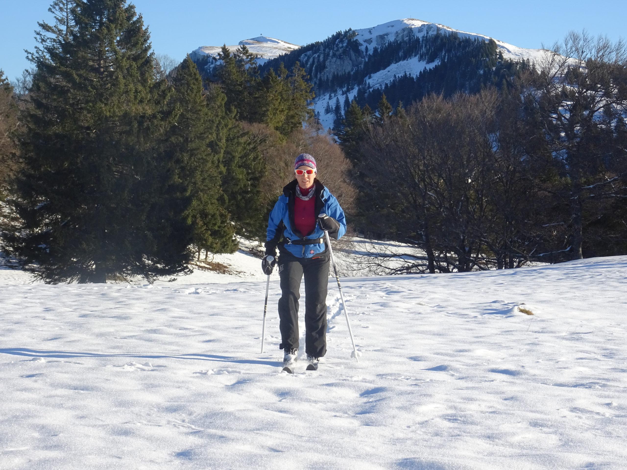 Fanny Girod en backcountry