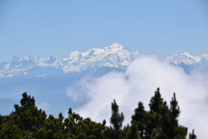 Le Mont Blanc depuis le Crêt de la Neige
